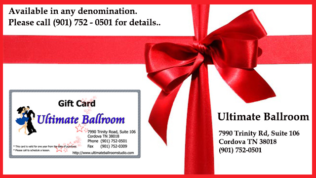 Gift Certificate for Ultimate Ballroom