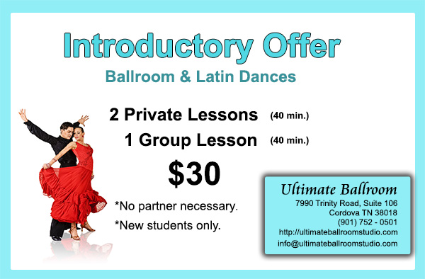Ultimate Ballroom Dance Studio - Introductory Specials