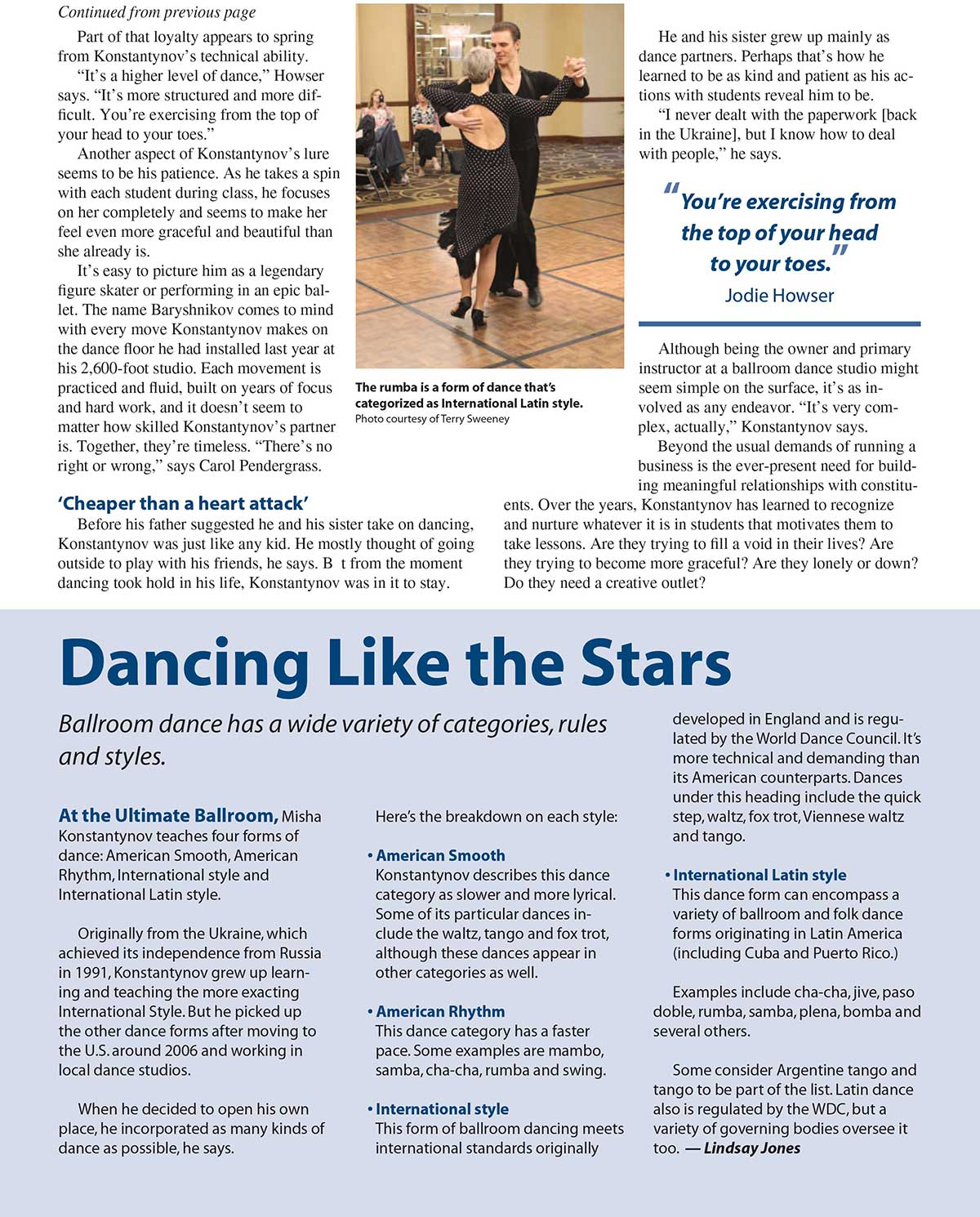 Cordova Life Magazine - June 2013 - Ultimate Ballroom