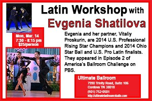 Latin Workshop with Evgenia Shatilova - Dance Coaching - March 2016