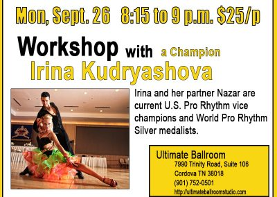 Workshop & Coaching with Irina Kudryashova