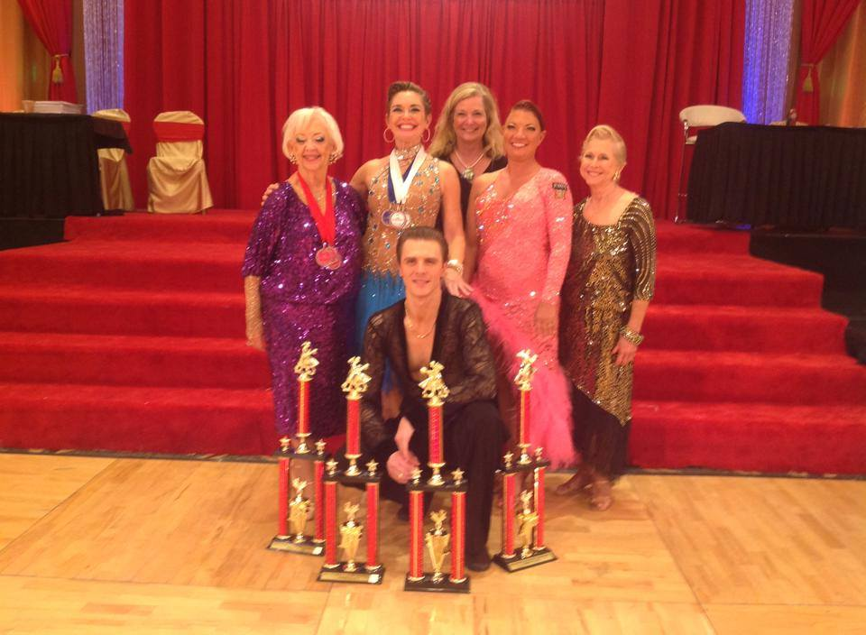 Ultimate Ballroom Students and Teacher at 2014 Hollywood Dancesport