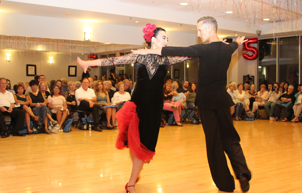 Francesca and Yura performing Paso Doble