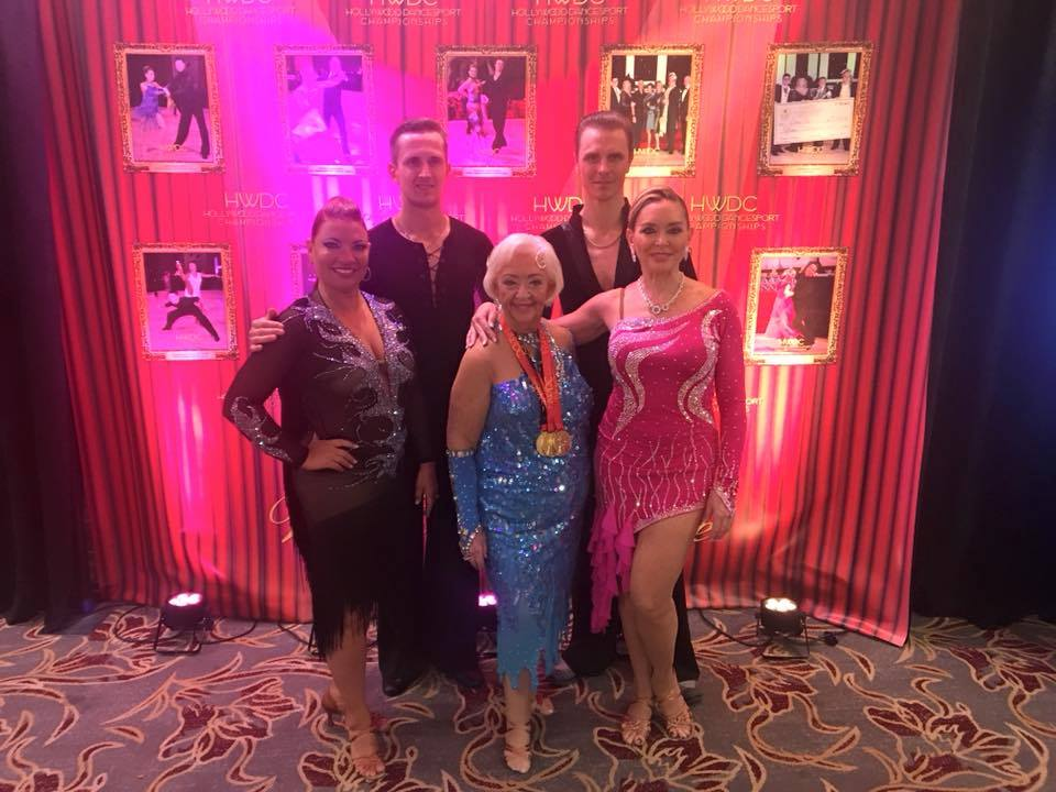 Ultimate Ballroom Dance students and instructors at Hollywood DanceSport Championship