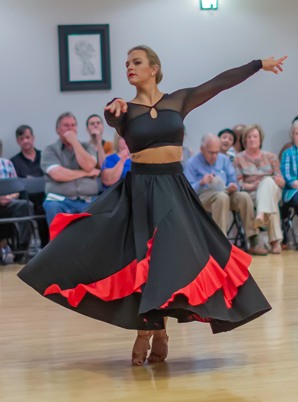 Rachel Morrison at Ultimate Ballroom dance studio