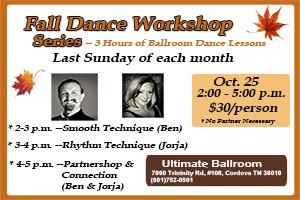 Fall Dance Workshop Series - October 2015
