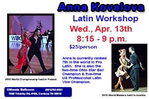 Anna Kovaiova - Latin Dance Workshop - 2016 April
