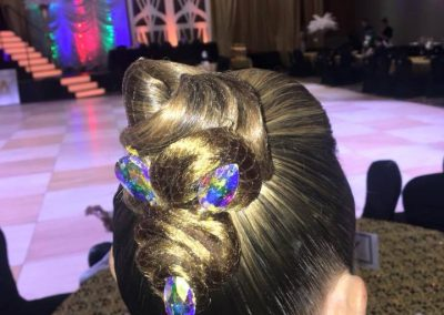 Natalie's beautiful ballroom hairstyle