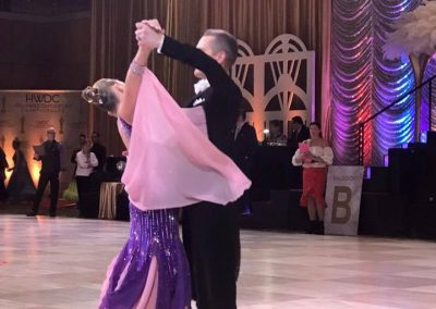 Natalie and Yura dancing at Hollywood DanceSport Championship