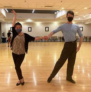 Ultimate Ballroom student with instructor